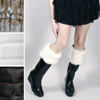 White Mink Fur Boot Liners