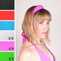Hot Pink Blacklight Reactive Headband