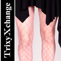 Levante Sesia Pink Double Fishnet Tights