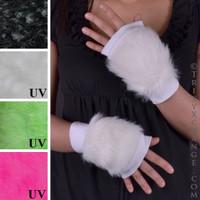 White Fur Gloves