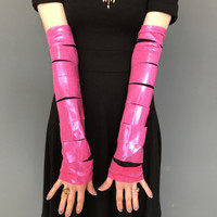 SALE - Pink Metallic Cut Out Arm Warmers