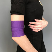 Shiny Purple Costume Arm Bands