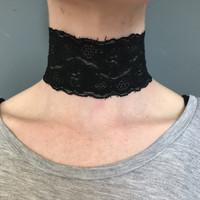 Handmade Black Lace Choker