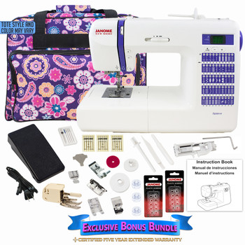 Janome DC2014 Computerized Sewing Machine with Exclusive Bonus Bundle