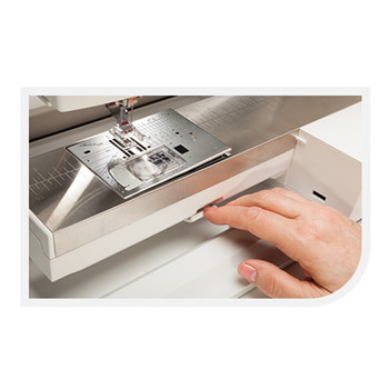 Janome Straight Stitch Needle Plate for MC15000 Horizon. Machine not included.