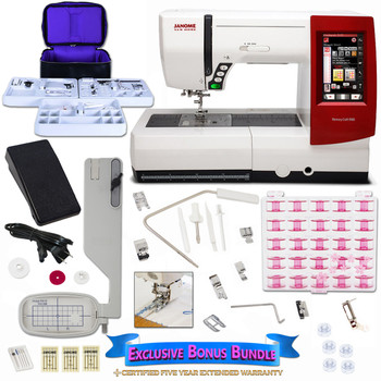 Janome Memory Craft 9900 Sewing Machine New Bundle