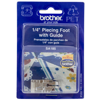 "Brother SA185 1/4"" Foot with Guide"