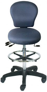 Sew-Ergo Advantage Standard Quilters Stool With Adjustable Foot Ring Model CLS53