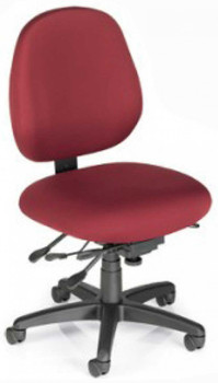 Sew-Ergo Advantage Premium Sewing Chair With Fabric Back Panel Up to 300 lbs. Model PC58