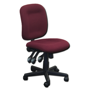 Horn of America Sewing Chair Burgundy Upholstery with Black Base