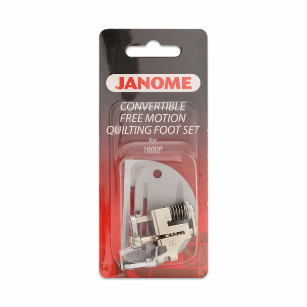 Janome Convertible Free Motion Quilting Foot Set With Needle Plate