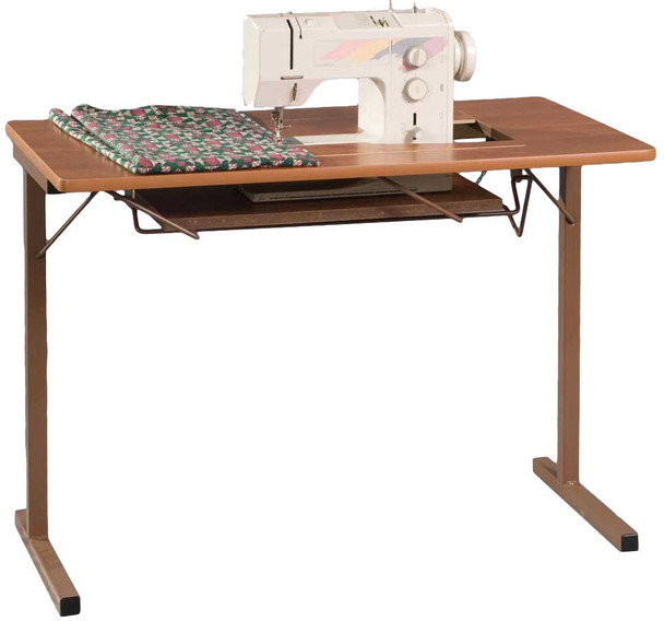 Fashion Sewing Cabinets 299 Foldable Sewing Machine Table Rustic Maple