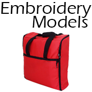 totes cases trolleys embroidery models