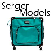 totes cases trolleys serger models