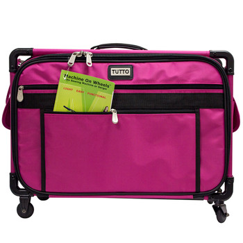 Tutto 22 Quot Large Sewing Machine Bag On Wheels Pink 179