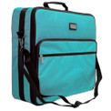 """Tutto 19"""" Turquoise Embroidery Project Bag"""