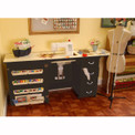Arrow Norma Jean Model 353 Sewing Cabinet in Black - Open