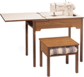 Fashion Sewing Cabinets Model 472 Flatbed School Sewing Desk with Leaf
