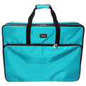 "Tutto 28"" Embroidery Project Bag In Turquoise"