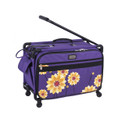 "Tutto 22"" Large Sewing Machine Bag on wheels (Purple Dahlia)"