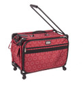 "Tutto 22"" Large Sewing Machine Bag on wheels (Red Dotted Circles)"