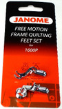 Janome Convertible Free Motion Frame Quilting Feet Set