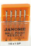 Janome Ball Point Needles (Size 9, 11, 14)