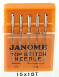 Janome Top Stitch Needles (Size 11, 14)