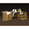 Schrocks of Walnut Creek Embroidery Cabinet Duo in Real Cherry Wood and Your Choice of Stain