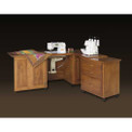 Schrocks of Walnut Creek Sewing Machine/Serger Duo Cabinet in Real Birch Wood and Your Choice of Stain
