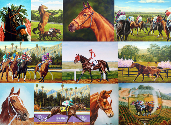 Here is a small sample of completed horse & racing commissions