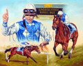 The Russell Record,  - horseracing giclee canvas print