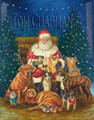 Say Cheese, Holiday card, Santa and dogs - box of 10