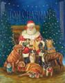 Say Cheese, Holiday card, Santa and dogs, box of 10, save $3 per box on free shipping