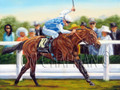 Goldikova Winning at Ascot, horseracing oil painting