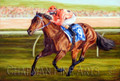 Black Caviar, Oil painting