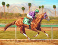 California Chrome Winning the Santa Anita Derby