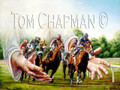 It's All in the Hands - horseracing giclee print