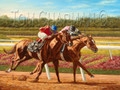 Affirmed vs. Alydar, 1978 Belmont Stakes, giclee canvas print