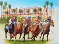 BayMeadows, The End of an Era - horseracing giclee canvas print