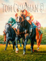 Charge to the Wire - horseracing giclee print