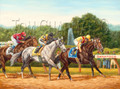 Rachel Alexandra Wins the Woodward Stakes, giclee canvas print