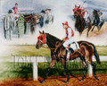 Seabiscuit, An American Legend - horseracing giclee canvas print