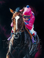 Tiznow, America's Horse - horseracing giclee canvas print