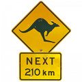 Great Australian road sign, beaut Australian magnet
