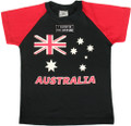Australia flag t-shirt, quality Australian made