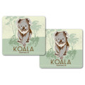 Two koala drink coasters. Australian made