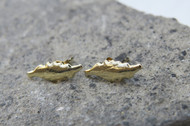 [Sample] Gold Leaf Earings