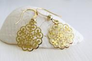 [Sample] 14k Gold Filigree Earrings