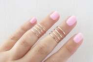 [Sample] 24 Stacking Rings - Silver, Gold, and Rose